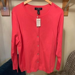 NWT Lands End Pink Cardigan